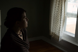 Photo: On the Verge | My wife in our hotel at the Bruce House Inn, looking out a window in the monks' room.  © 2011 Ryan Lynham