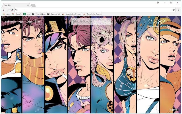 Jojo Bizarre Adventure HD Wallpaper New Tab