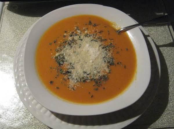Cream Of Butternut Squash And Sweet Potato Soup