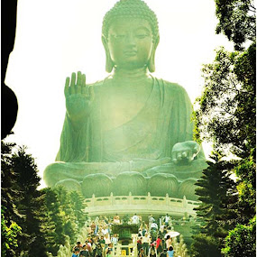 The Enlightened One.. . by Steve Albano - Artistic Objects Other Objects ( lantau island, lantau, buddah, big buddah )