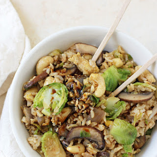 Brussels Sprout Fried Brown Rice.