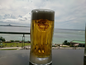 Photo: 伊江島見ながら、オリオンで乾杯~(≧▽≦)