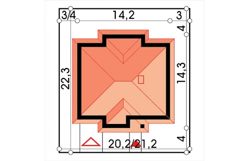 Mila IV energo+ wersja A z pojedynczym garażem - Sytuacja