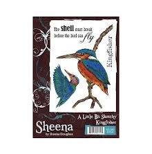 Sheena Douglass A Little Bit Sketchy A6 Stamp Set - Kingfisher UTGÅENDE