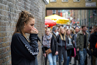 Photo: +KIMMY BEATBOX​ performs for the Brick Lane crowd, East London.