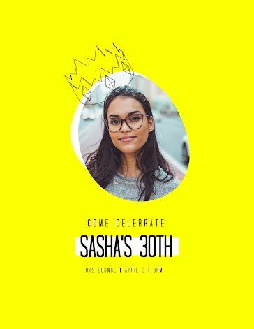Celebrate Sasha - Birthday template