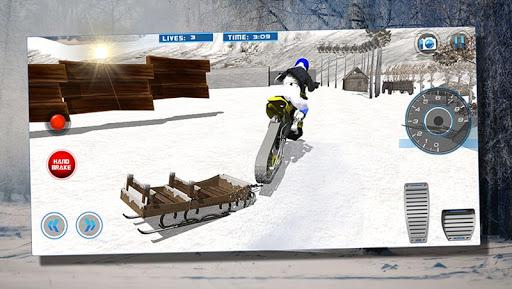 Mountain Snow Bike Rider Stunt