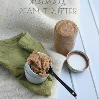 Homemade Honey Peanut Butter.