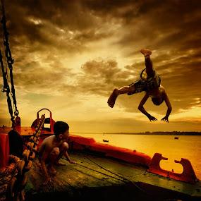 Jump Down by Ahay Gart - Digital Art People