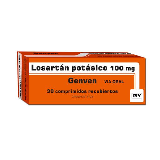 Losartan Potasico Genven 100mg X 30 Comprimidos Genven