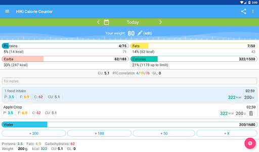 Calorie Counter HiKi 2.77 screenshots 8