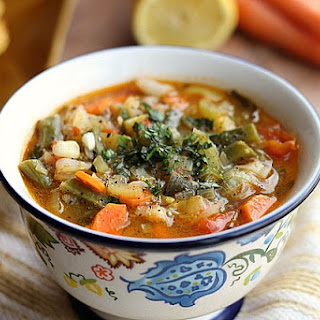 Hearty Vegetable Soup with Sweet Potato Biscuits (Vegan, Gluten-Free).