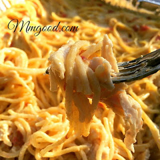 Chicken Spaghetti Baked Casserole.