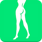 Butts, legs and hips workout icon