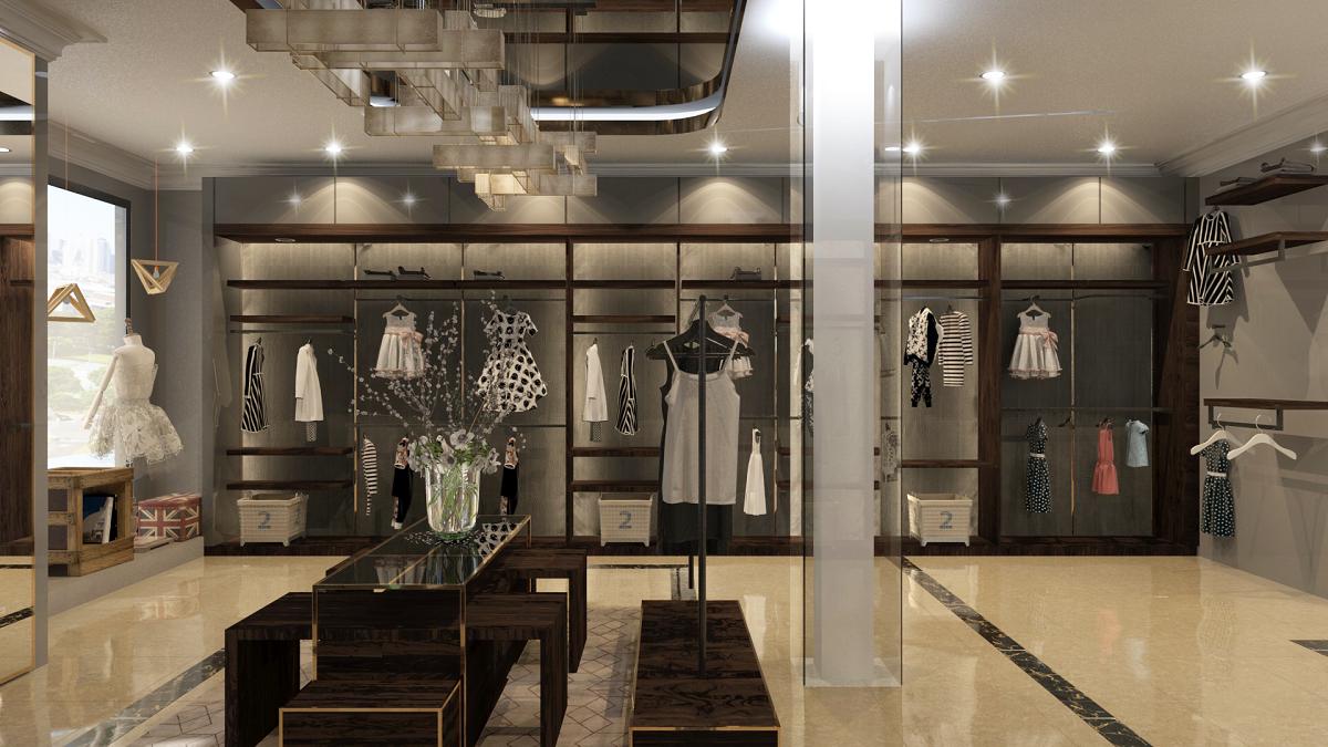 thiết kế shop thời trang sang trọng 17