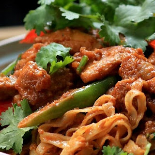 Chicken Satay Noodles.