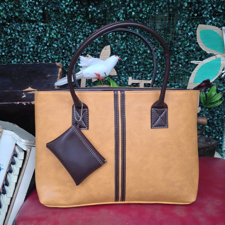 Classic Tote in Sand Brown by Le Tea Boutique
