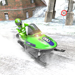 Sledge Racing Mountain Slide - Winter Sport Icon