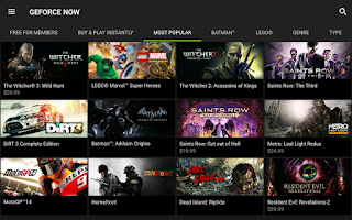 Screenshot of NVIDIA SHIELD Hub