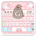 Bella cute pink cat tastiera tema icon