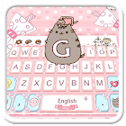 Lindo bonito tema teclado gato icon