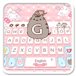 Lovely Cute Pink Cat Keyboard Icon