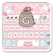 Lovely Cute Pink Cat Keyboard