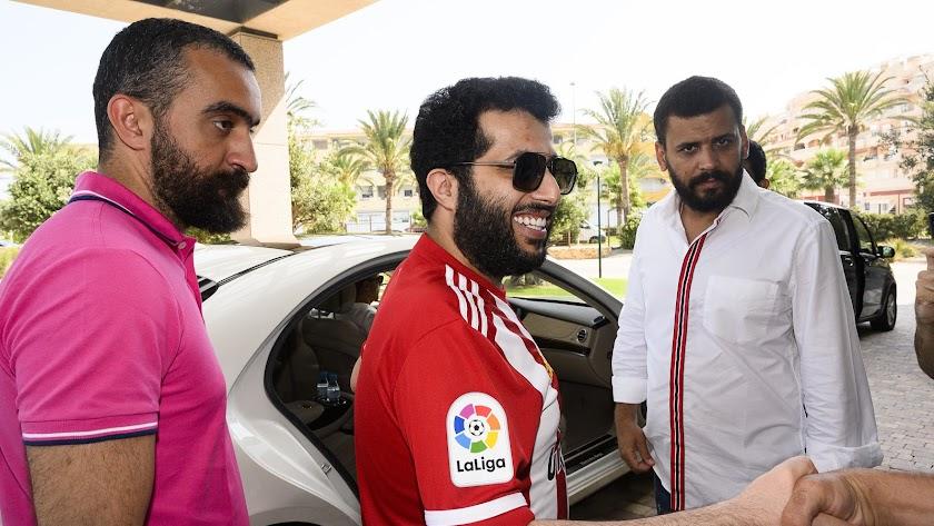 Mohamed El Assy, Turki Al-Sheikh y Mostafa Yilmaz en su primera visita a Almería.