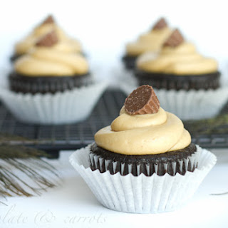 Chocolate Peanut Butter Cupcakes {Gluten-free}