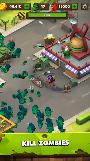 Clicking Dead u2014 idle zombie defence screenshots 1