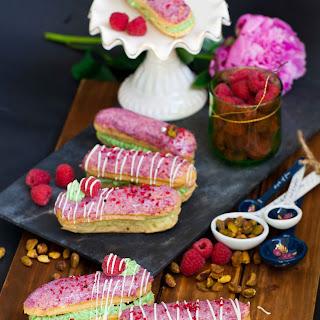 Raspberry Pistachio Eclairs Recipe