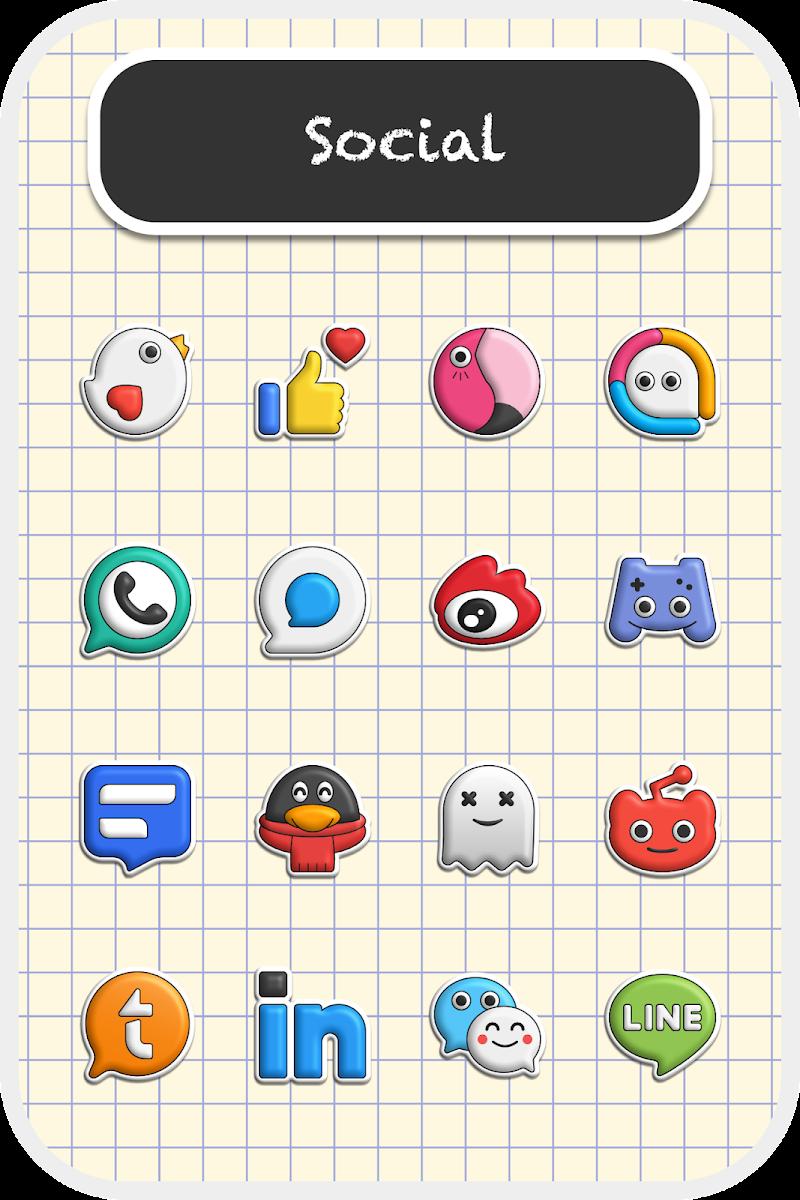 Poppin icon pack Screenshot 1