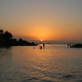 Setting the Sun by Jason Asselin - Landscapes Sunsets & Sunrises ( jamaica, vacation, sunset, ocean, tropics )