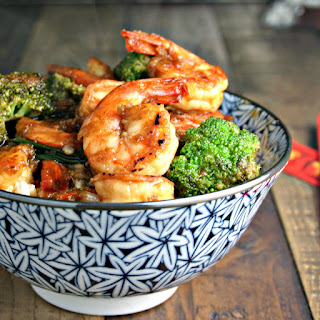 Chinese Shrimp and Broccoli Stir Fry.