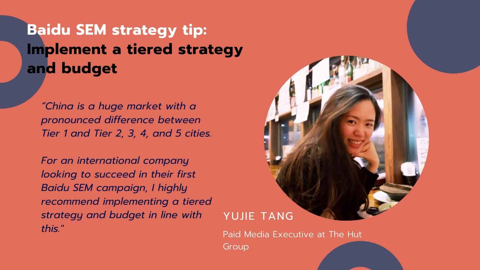 Baidu SEM strategy tip : Implement a tiered strategy and budget