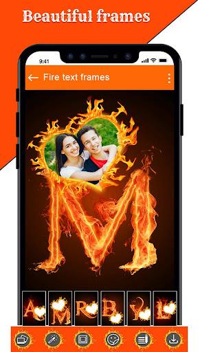 Fire Text Photo Frame u2013 New Fire Photo Editor 2020 1.40 Screenshots 6