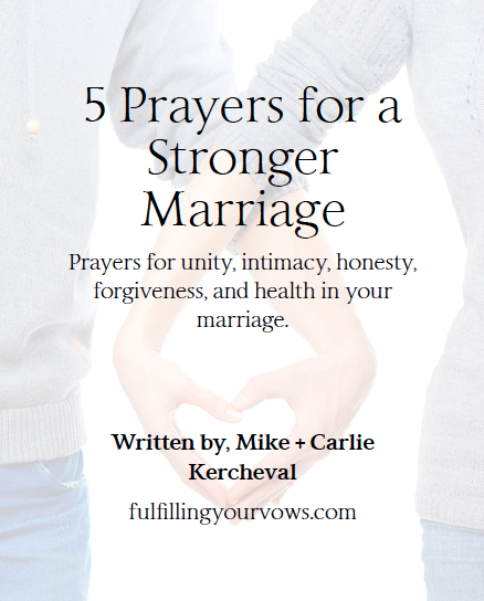 Free eBook 5 Prayers for a Stronger Marriage