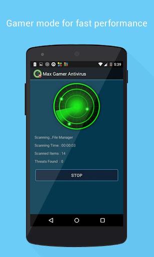 MAX GAMER ANTIVIRUS for Gamers screenshot 1