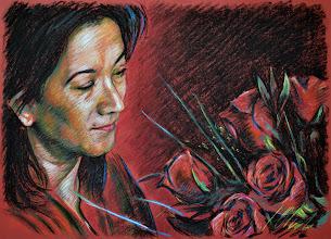 Photo: Boceto en rojo, pastel