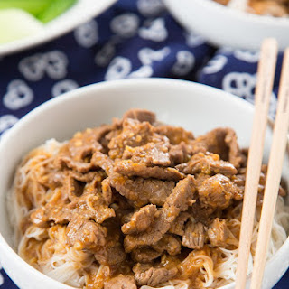 Satay Beef Vermicelli Noodles.