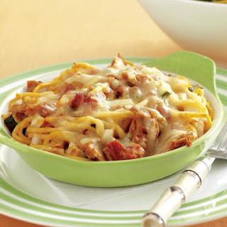 Tuna Noodle Casseroles with Salad