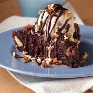 Fudgy Turtle Brownie Pie