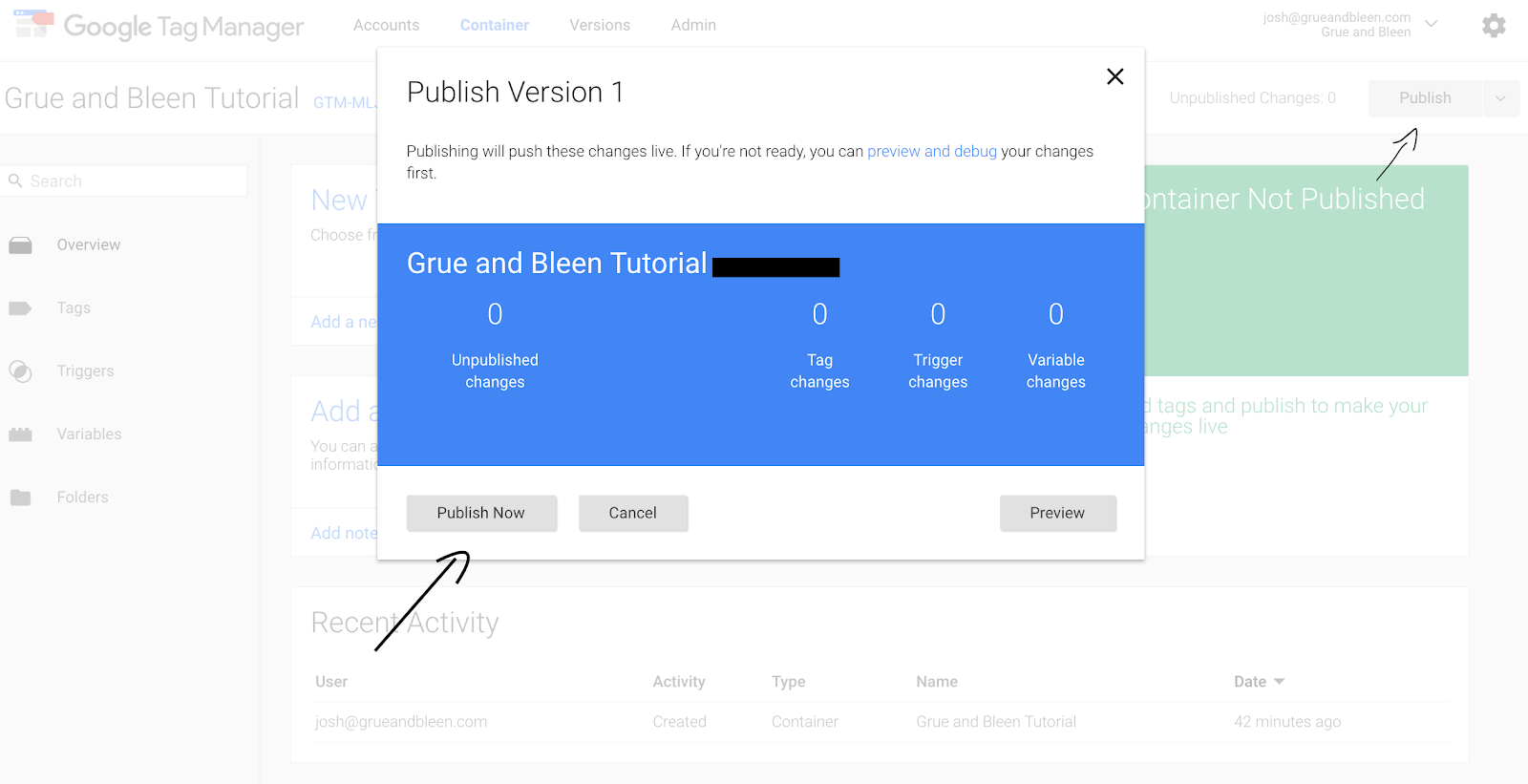 Publish Your GTM Code