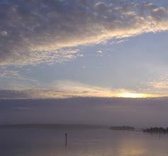 Photo: Blue sky - fog below