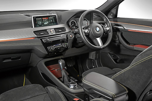 The interior features a fair amount of X1 with a few sporty touches to suit the coupe-like profile. Picture: BMW