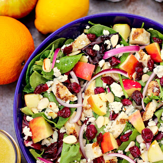 Grilled Chicken Cranberry Salad with Citrus Vinaigrette