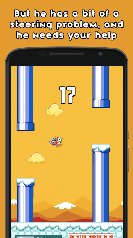 Pecky Flight: A Flappy Penguin- screenshot