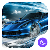 Blue Lightning Cool Car theme & wallpapers