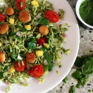 Pan Seared Scallops and Superfood Pesto