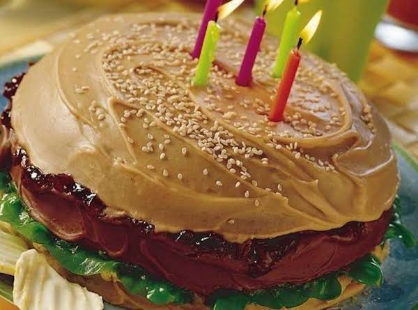 Big Burger Cake Recipe